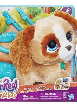 FurReal Friends Walkalots щенок собака на поводке Big Wag poppy