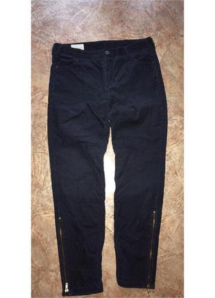 Велюровые синие штаны джинсы
