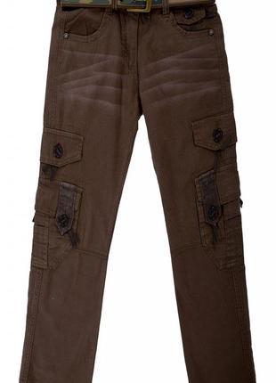 Модные летние брюки, штаны на мальчика подростка cocky 9-13 лет