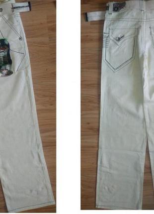 Льняные летние брюки, штаны на мальчика 13-14 лет