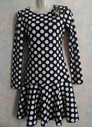 Красивое женское платье в горох 42 размер распродажа