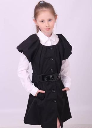Стильное платье сарафан школьный на девочку 6-14 лет