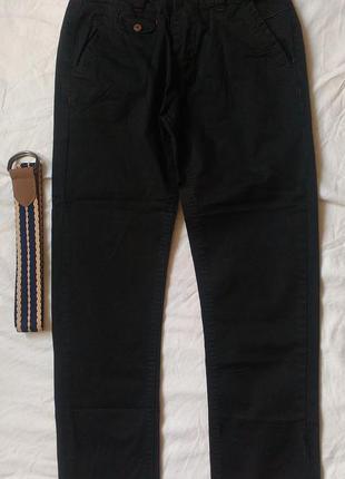 Черные стрейч котоновые брюки на мальчика 11-12 лет 146-152 р.
