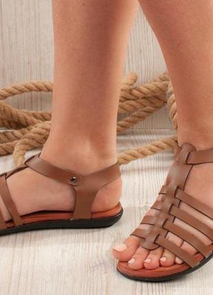 Распродажа! женские босоножки сандалии 37,39 турция карамель