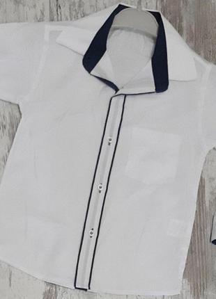 Школьная белая рубашка-трансформер на мальчика хлопок 7,8,9,10...