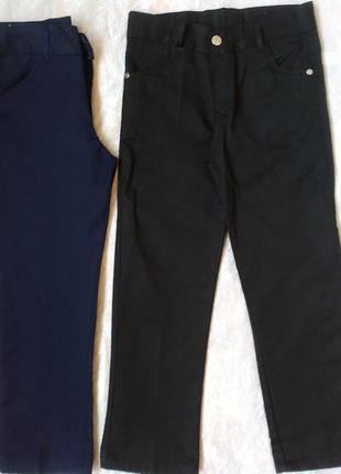 Школьные брюки на мальчика 7-12 лет черные синие турция