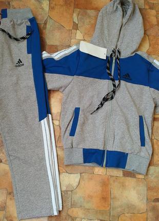 Спортивный костюм на мальчика 7,8,9,10 лет adidas серый