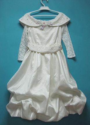 Нарядное платье для девочек 7-9 лет