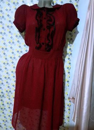 Романтичное платье с рюшами 👗