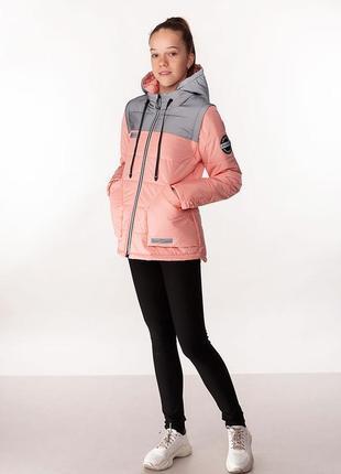 Nikol - детская демисезонная куртка-жилет, цвет персик