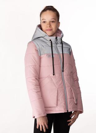Nikol - детская демисезонная куртка-жилет, цвет пудра