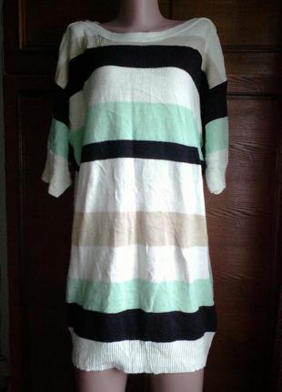 Вязаное короткое платье / туника / длинный свитер supila