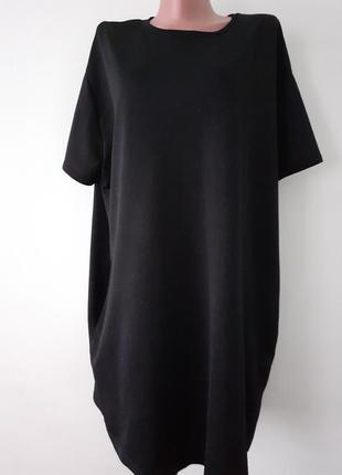 Платье оверсайз,платье миди черное/разм. с-л