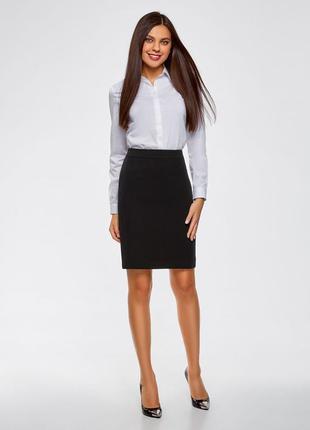 Стильная,черная юбка карандаш,nikka