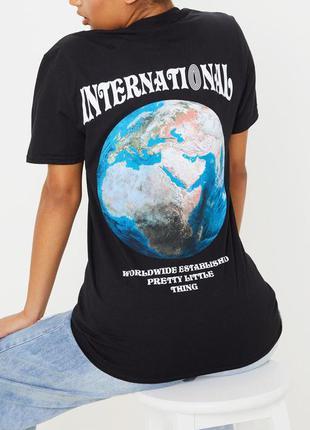 Prettylittlething.товар из англии. эффектная футболка с яркими...