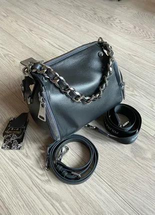 Женская кожаная сумка. Кожаный клатч. Polina&Eiterou.