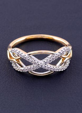Кольцо 'xuping' фианит (позолота/родий) 0888000
