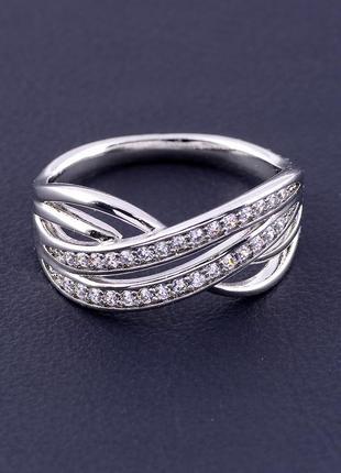 Кольцо 'xuping' фианит (родий) 0887970