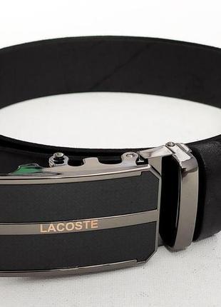 Мужской кожаный ремень lacoste автоматический