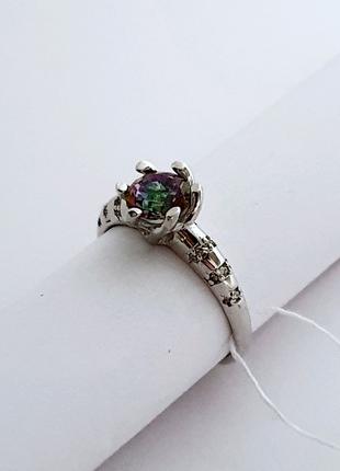 Серебряное кольцо 19 размер
