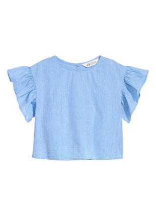 H&m топ на рост 92 и 98 см блуза футболка блузка