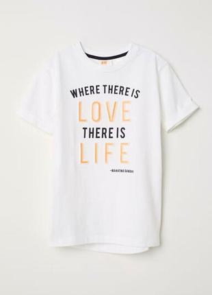 H&m футболка 2 года 92 см с объемными буквами