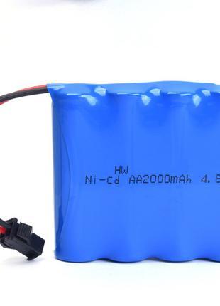 Ni-CD AA 4.8V 2000mAh Ni-CD 4.8V Аккумулятор (H-W) SM-2P