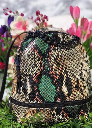 Кожаный рюкзак кроссбоди италия