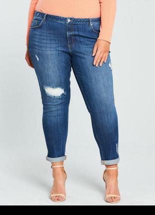 Модным пышечкам сюда! оригинальные рваные джинсы