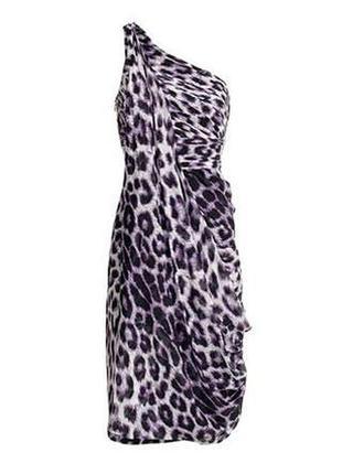 Шелковое платье в леопардовый принт коктейльное, шелк, шовк