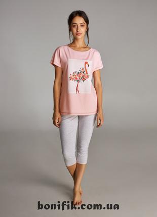 Комплект пижамы для отдыха (футболка+бриджи) LNP 311/001