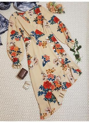 Платье boohoo/цветочный принт