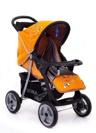 Детская прогулочная коляска Sigma K-038 F-2, жёлтая