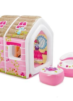 Детский надувной игровой домик Princess Play House Intex