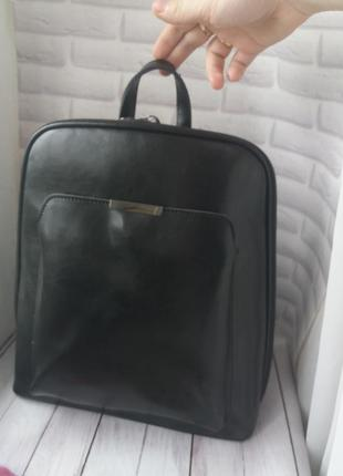 Кожаный рюкзак жіночий шкіряний портфель