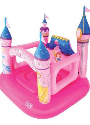 Детский надувной батут BestWay «Замок Принцессы», 157 х 147 х 163