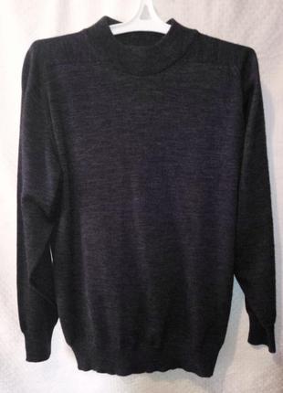 Джемпер свитер темно серый шерстяной