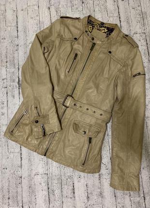 Кожаная куртка maze размер м 100% натуральная кожа