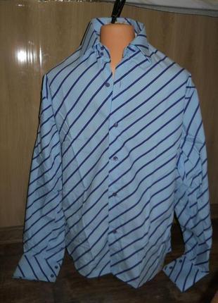 Рубашка мужская  размер l наш 48 paolo  rossi италия