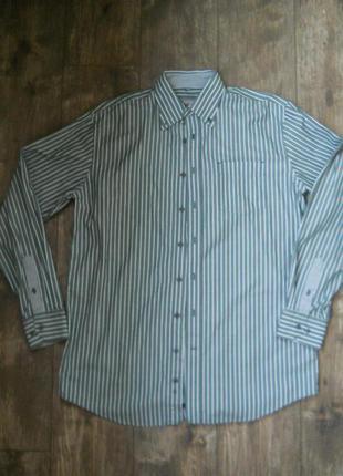 Рубашка мужская размер m ворот 40 котон 100%