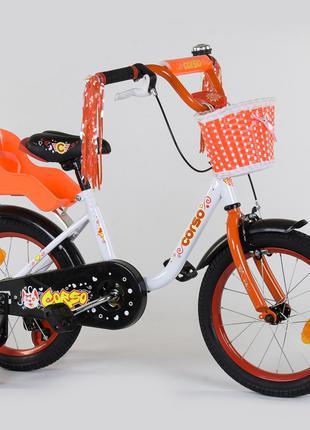 """Велосипед 16"""" дюймов 2-х колёсный """"CORSO"""""""