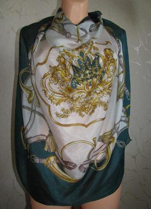 Платок шелковый шелк 100% шейный платок michel delaby