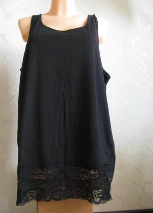 Майка новая 58-60 размер трикотажная евро 52 черная женская