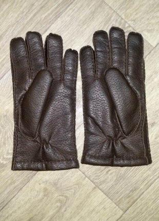 Теплые перчатки l мужские на 22-23 см объем руки