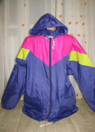 Дождевик куртка l размер 48-50 ветровка водонепроницаемый