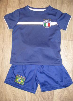 Форма футбольная 2-4 года спортивная футболка шорты