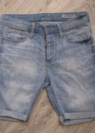 Шорты мужские джинсовые 46 размер s jack & jones