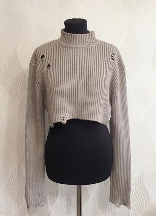 Укорочённый свитер со спущенными петлями standart в стиле yeez...