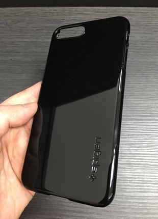 Чехол spigen thin fit jet black для iphone 7 8 plus 7+ 8+ x xs