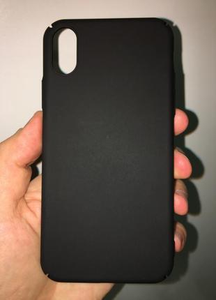 Тонкий стильный чехол из поликарбоната для iphone x xs